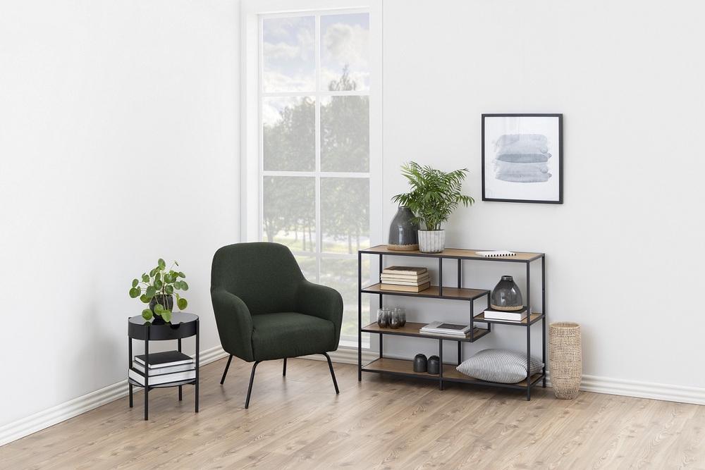 Designový odkládací stolek Adolphus kouřová