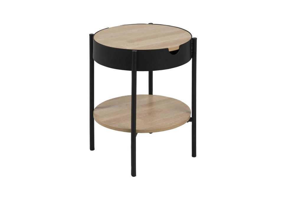 Designový odkládací stolek Adolphus imitace dub