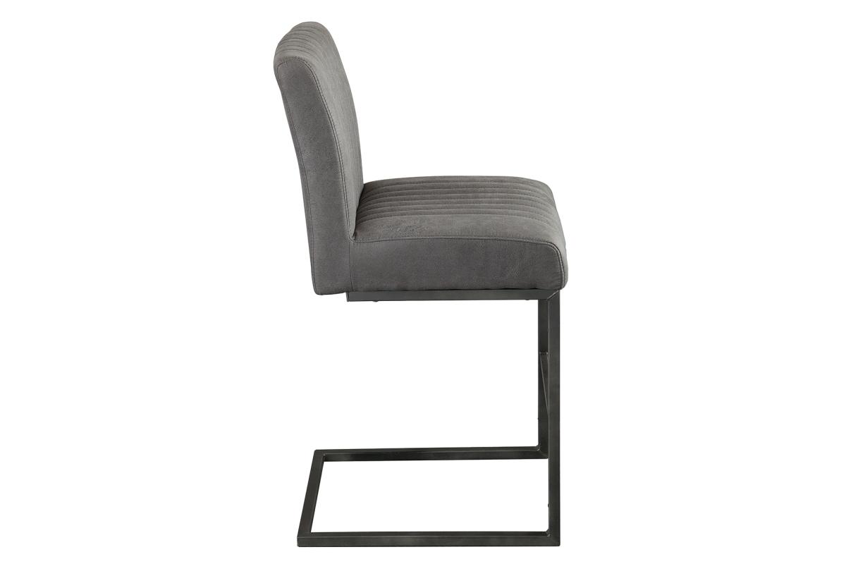 Dizjanová barová židle Boss II antik šedá