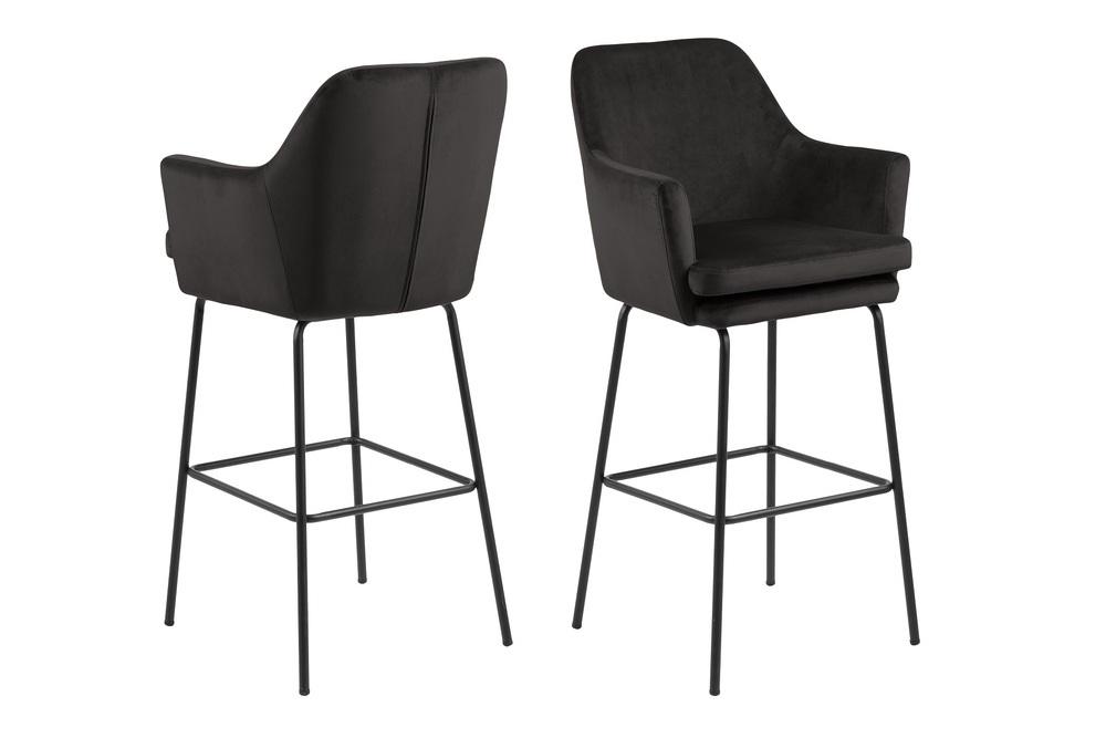 Elegantní barová židle Aleix šedá / hnědá