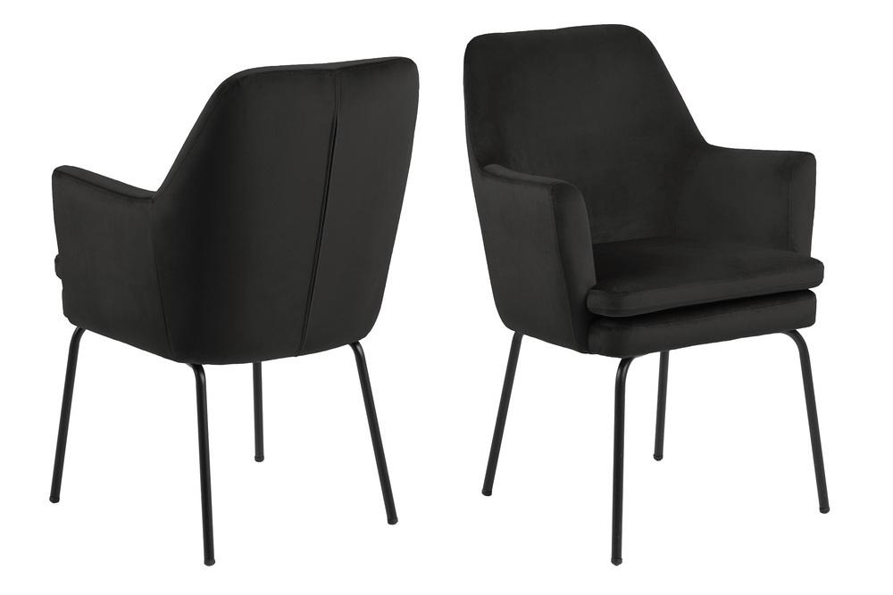 Elegantná jedálenská stolička Aleix, sivá / hnedá