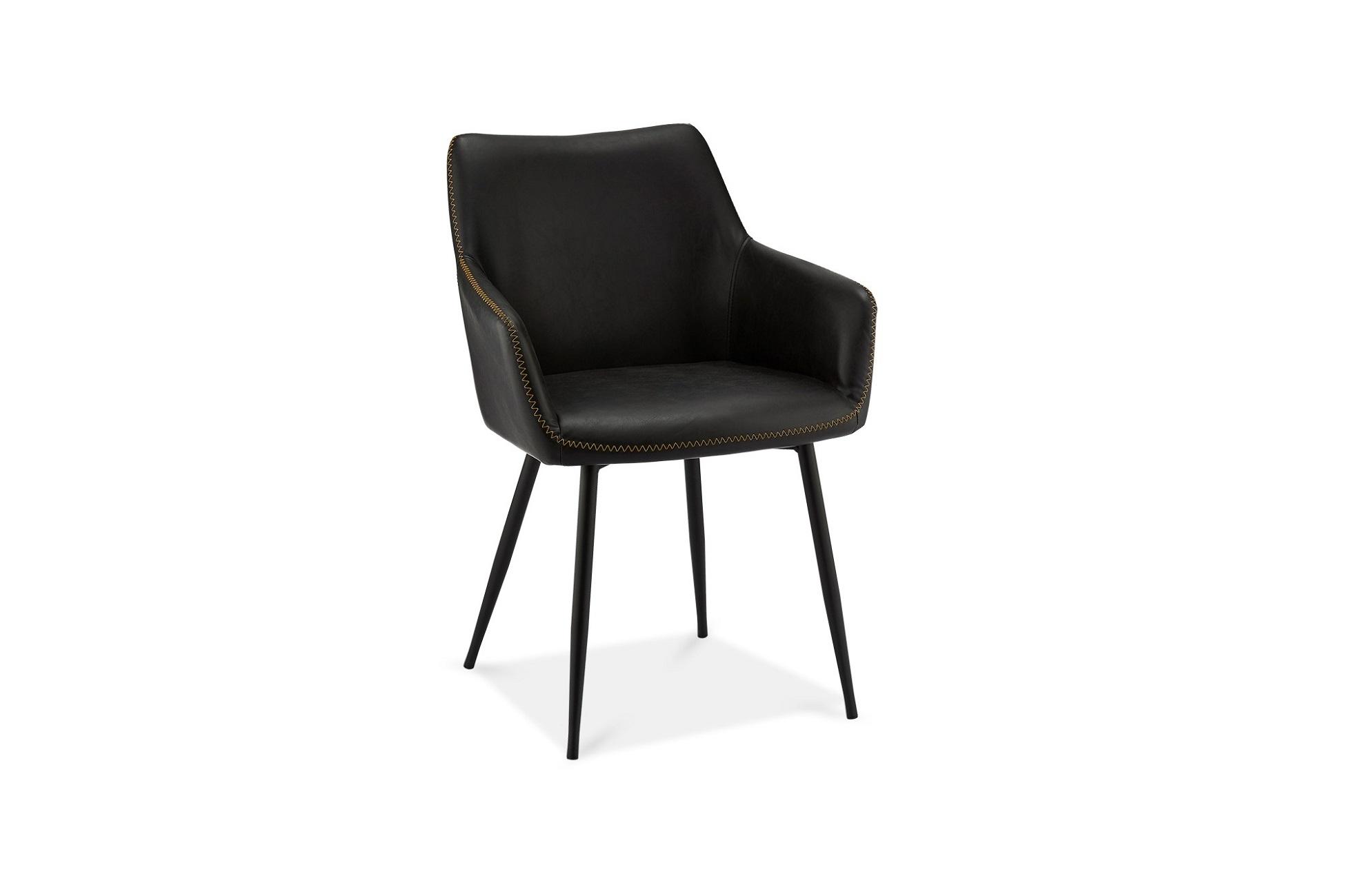 Elegantní židle Abacus, černá