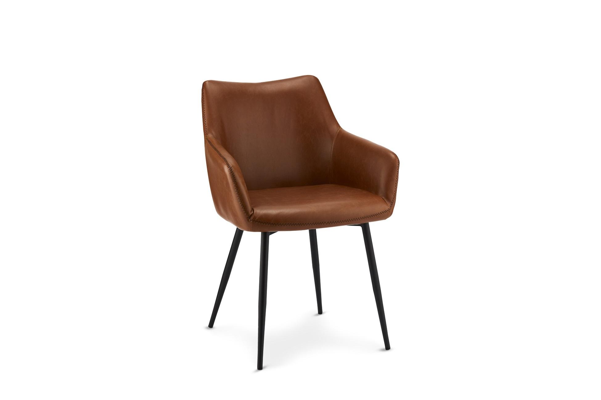 Elegantní židle Abacus, koňaková
