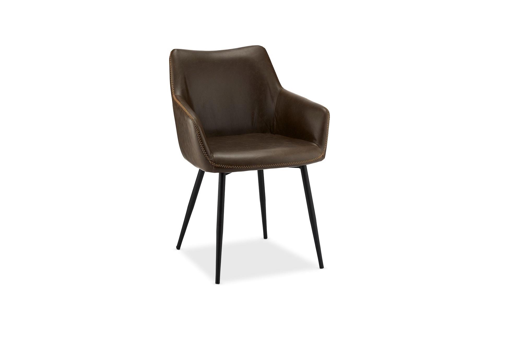 Elegantní židle Abacus, tmavohnědá