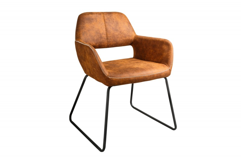 Dizajnová židle Derrick hnědá Antik