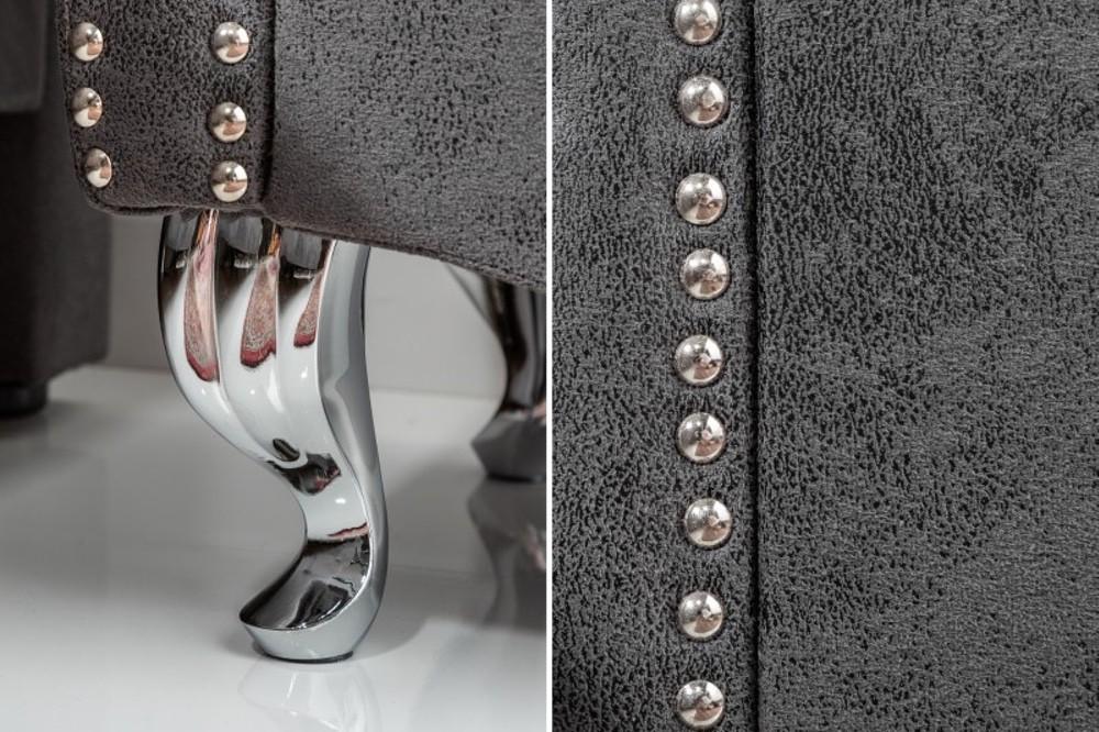 Noční stolek Spectacular, 45 cm, šedý