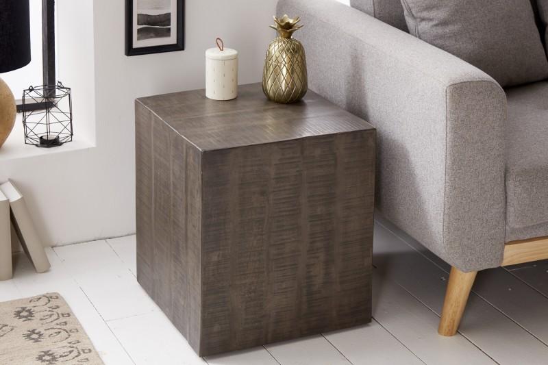 Designová taburetka Unity, 40 cm, šedé mango
