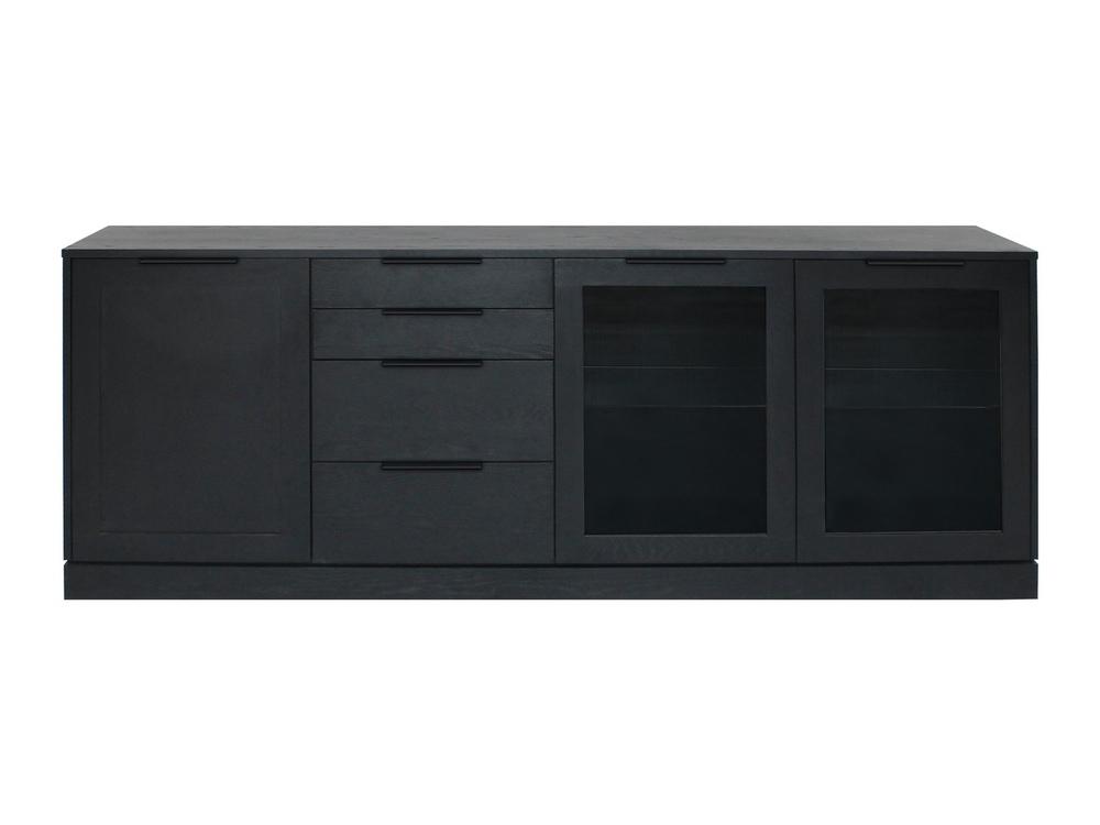 Designová komoda Franco / 3 dveřová - černá