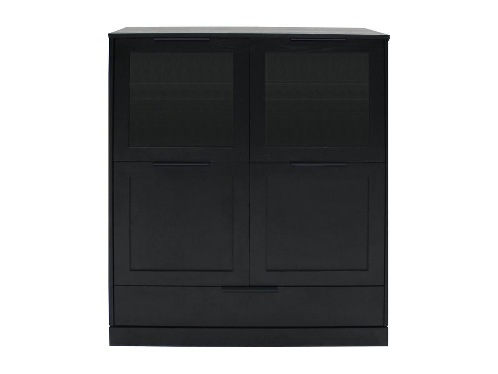 Designová komoda Franco / 4 dveřová černá