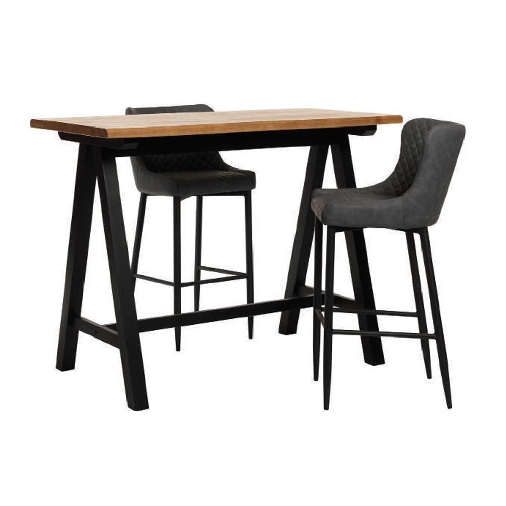 Designová barová židle Hallie šedý samet