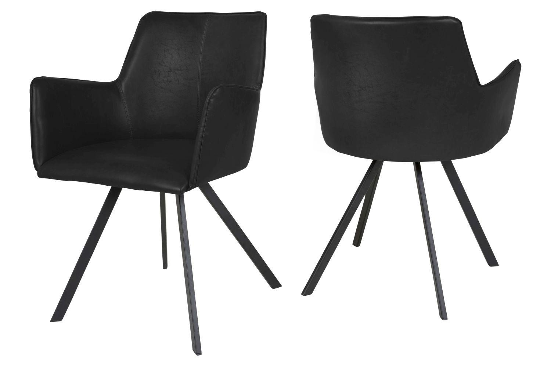 Designová jídelní židle Simone / černá