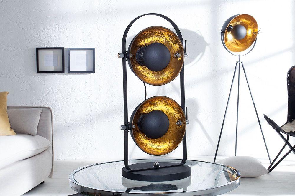 Stojanová lampa STAGE 2 / černo zlatá
