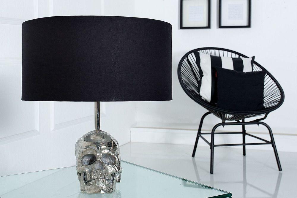 Stolní lampa Lebka / 44 cm