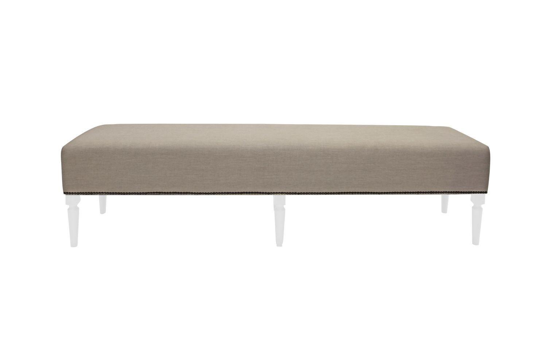 Dizajnová lavice Andrea 190 cm / bílá