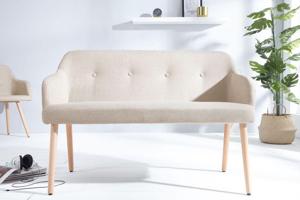 Dizajnová lavice Sweden přírodní