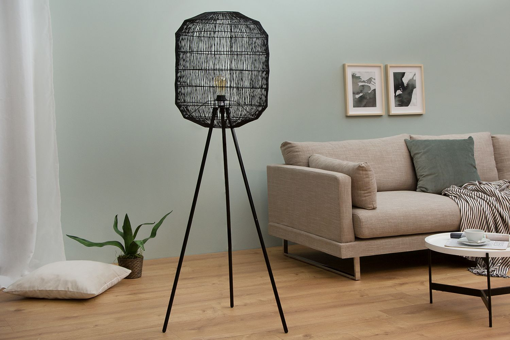 Stojanová lampa Hash / černá