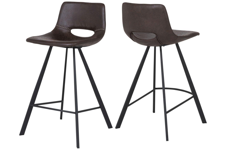 Barová židle Izabella 87 cm / tmavě hnědá
