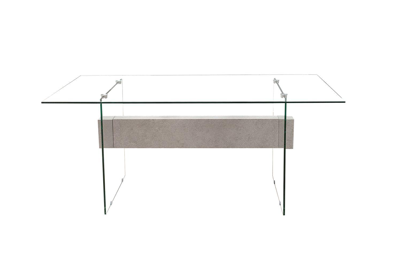 Dizajnový kancelářský stůl Livid 160 cm / bílá - betónová