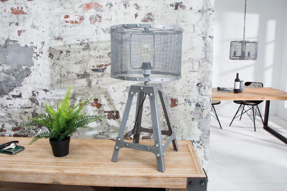 Designová stolní lampa Metall 60 cm / šedá