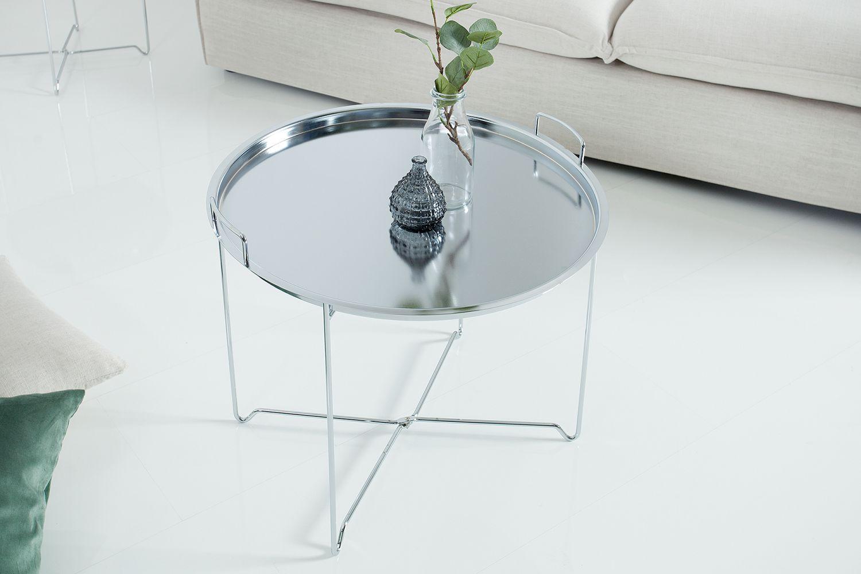 Konferenční stolek Maroko / stříbrný