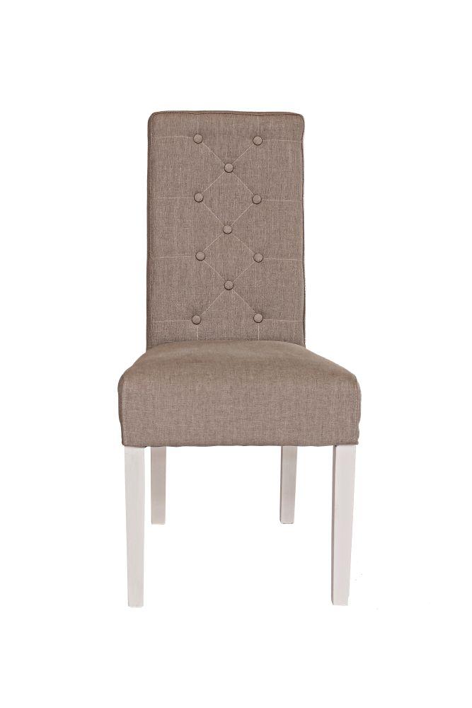 Designová židle Bristol / hnědá - bílá