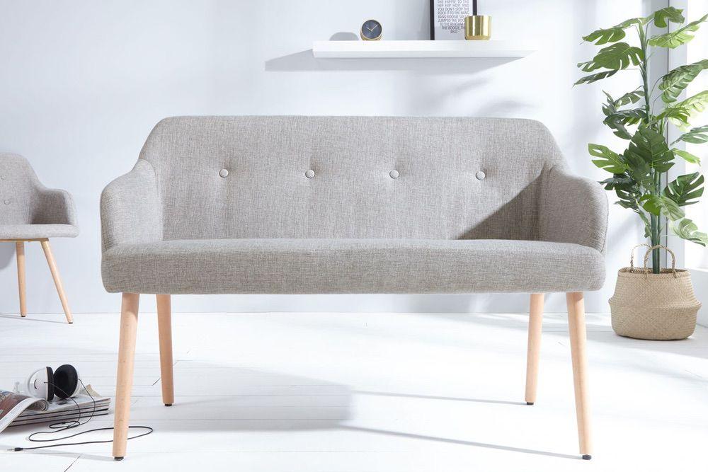 Dizajnová lavice Sweden světle šedá