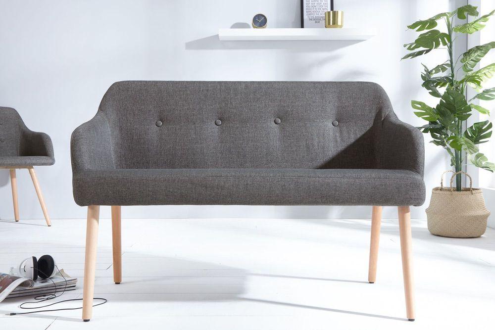 Dizajnová lavice Sweden tmavě šedá