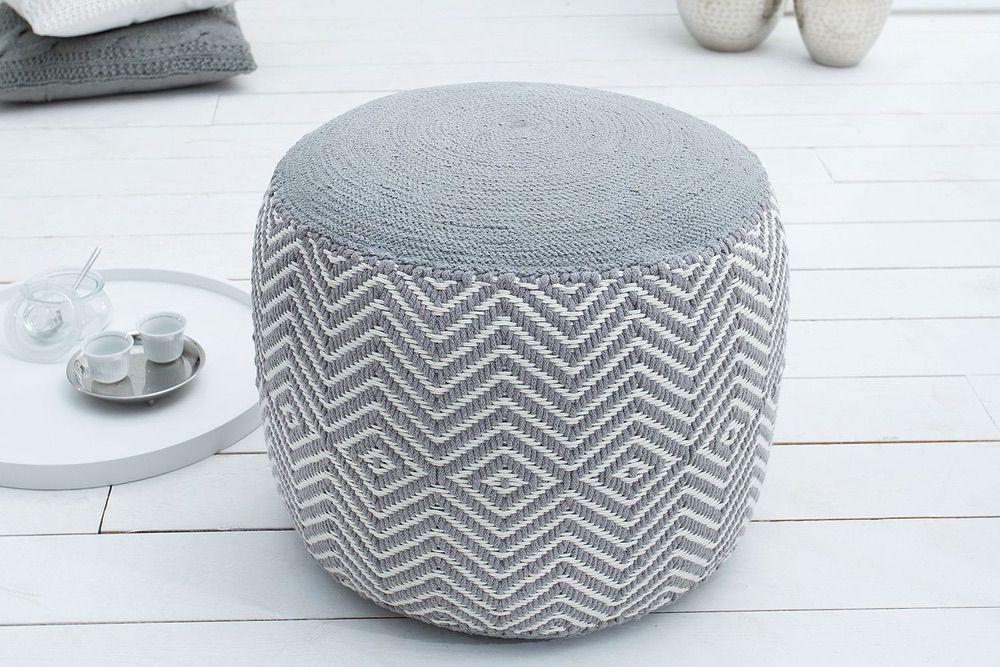Designová taburetka Orient / bílá - šedá