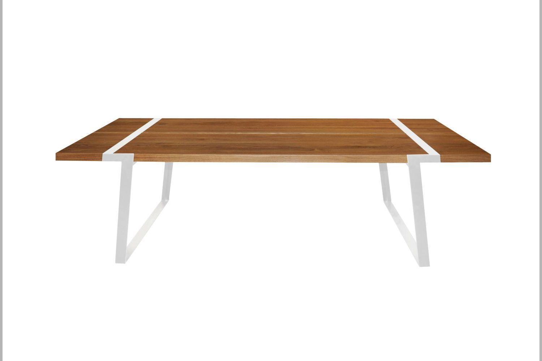 Jídelní stůl Annie 240 - 360cm / bílá-přírodní
