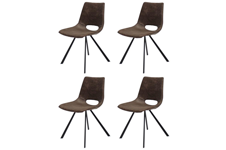 Designová židle Izabella / hnědá-černá