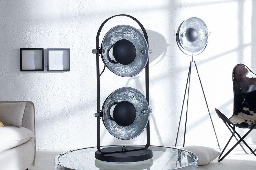 Stojanová lampa STAGE 2 / černo stříbrná