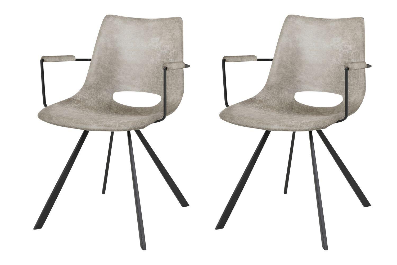 Designová židle Izabella s opěrkami / béžová-černá