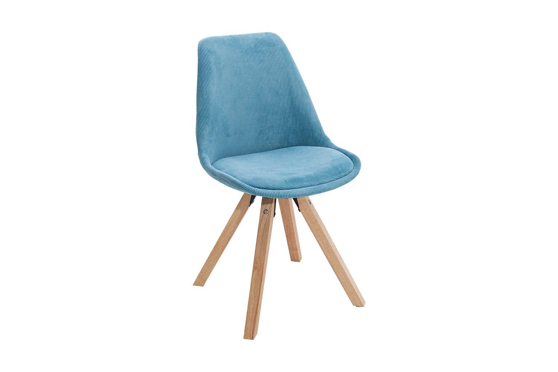 Židle Sweden NewLook / manšestrová tyrkysová
