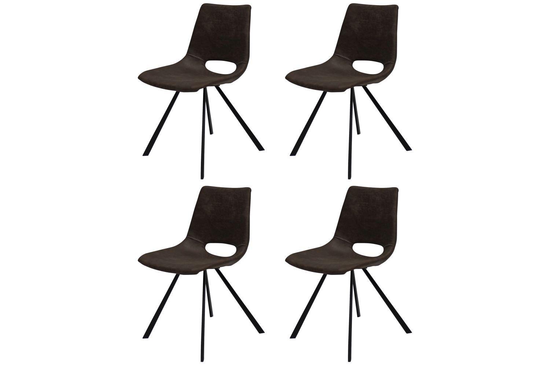 Designová židle Izabella / tmavě hnědá-černá