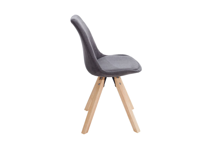 Židle Sweden NewLook / manšestrová šedá