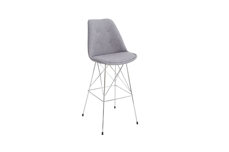 Designová barová židle Sweden retro / šedá