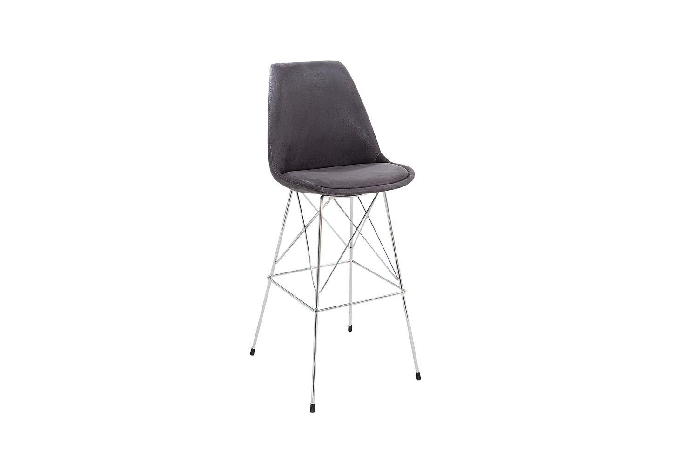 Designová barová židle Sweden retro / antická šedá