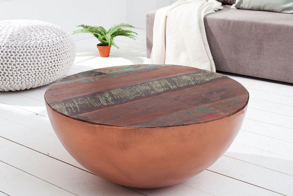 Konferenční stolek Jacktar kulatý / meděný
