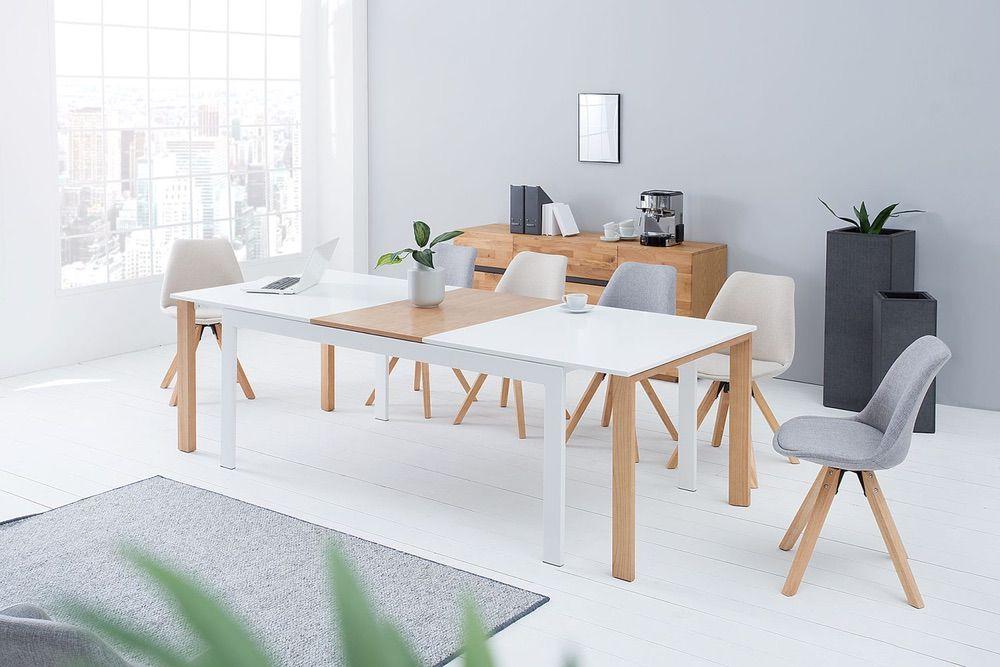 Jídelní stůl Gama 180-420 cm / bílá-dub