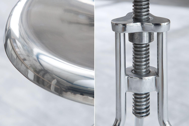 Designová otočná židle Industry / stříbrná