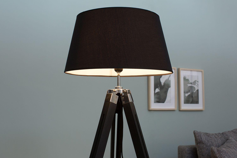 Stojanová lampa Rome 99-143 cm / černá