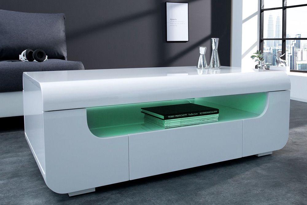 Konferenční stolek Luminous 120 cm / bílá