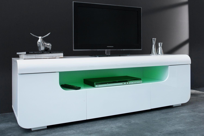 Designový TV stolek Luminous 150 cm / bílá