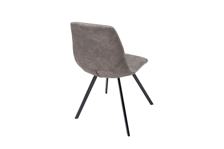 Designová stolička Rotterdam Retro / šedo-hnědá