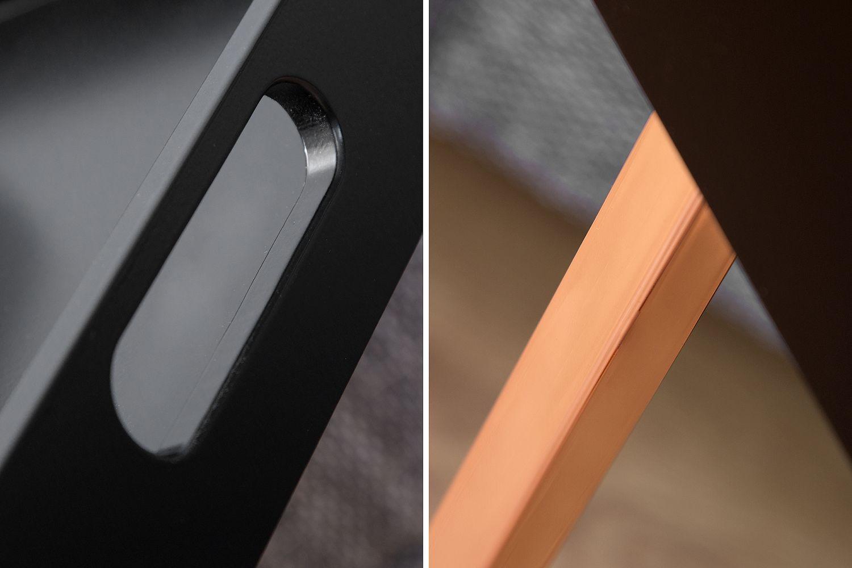 Odkládací stolek Cesar / černá - měděná