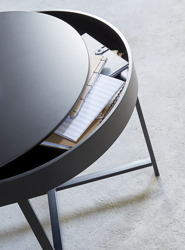 Konferenční stolek Marley 70 cm / černá
