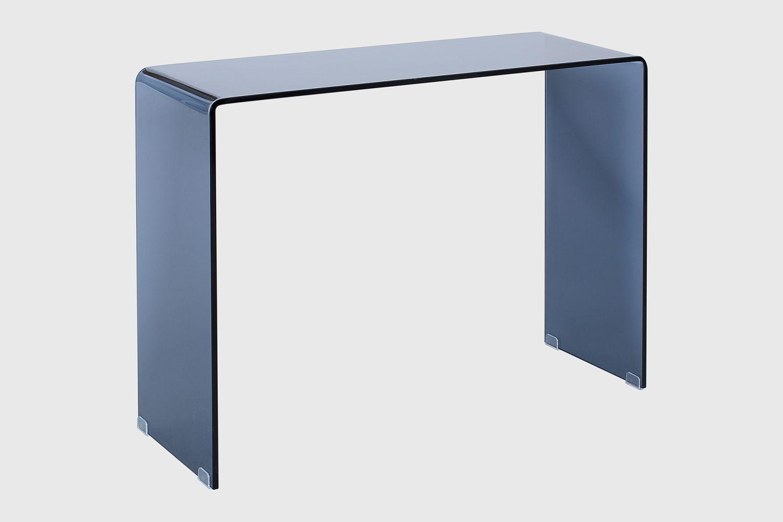 Skleněný kancelářský stůl Phantom 100 cm / antracit