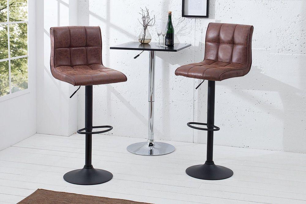 Barová židle Modern vintage hnědá