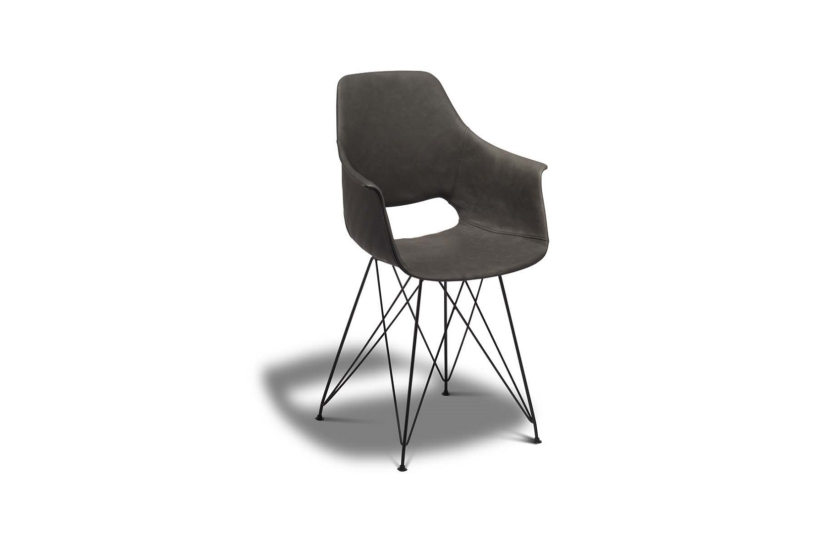 Jídelní židle Aban, šedá