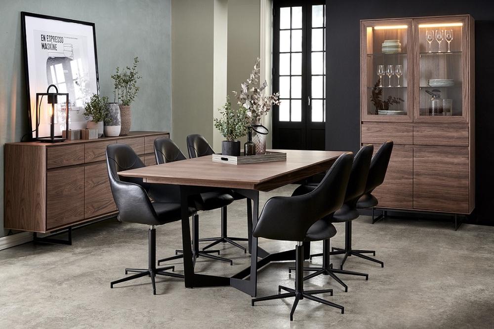 Jídelní rozkládací stůl Aage 200-250, vlašský ořech